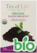 БИО чай органический Tea of Life ORGANIC English Breakfast (20х1.5 г) (T31611)